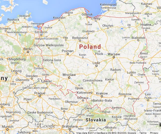 Lomza Poland Map.Map Of Poland