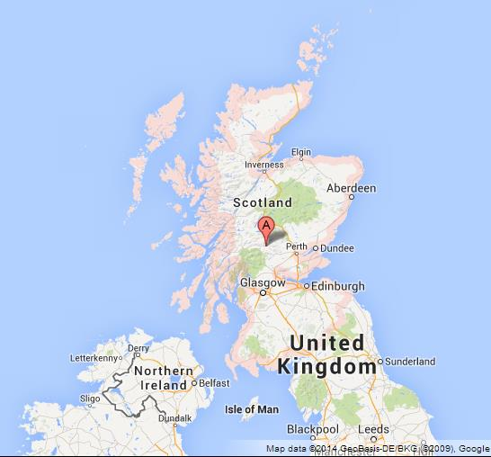 Map of Scotland World Easy Guides