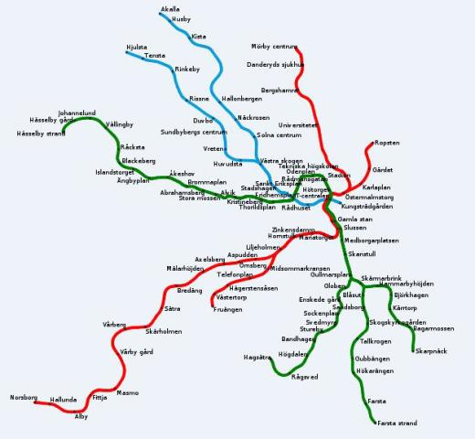Sweden Subway Map.Stockholm Beautiful Swedish Capital World Easy Guides