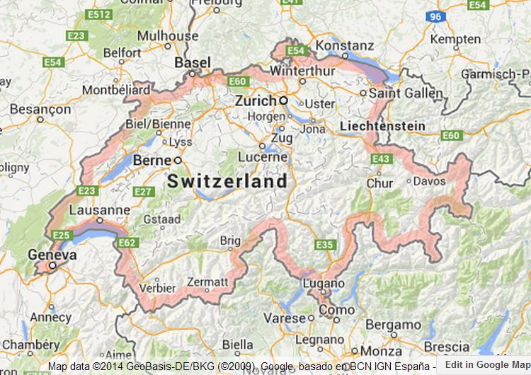 Map of Switzerland World Easy Guides
