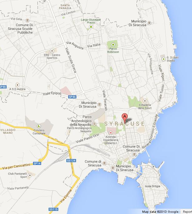 Map of Syracuse Sicily World Easy Guides