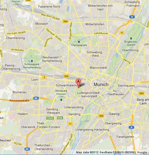 Oktoberfest on Map of Munich World Easy Guides
