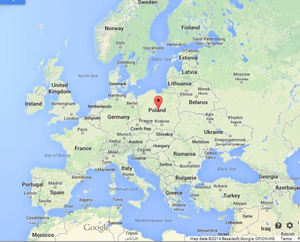 location Poland on Map of Europe