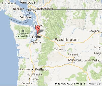 Washington State Map Seattle.Seattle On Washington State Map