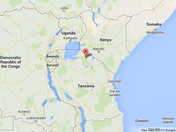 Serengeti National Park on Map of Tanzania and Kenya World Easy
