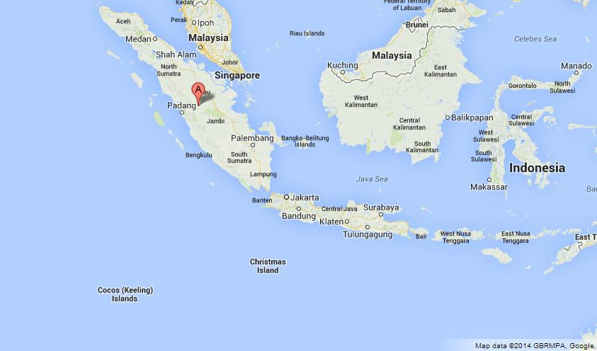 Sumatra on Map of Indonesia