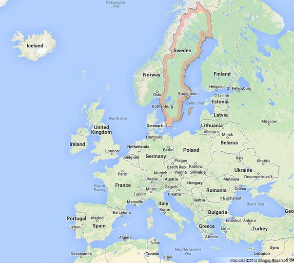 Sweden On Map Of Europe World Easy Guides - Sweden european map