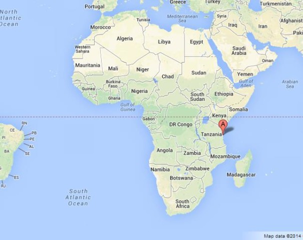 location Tanzania on Map of Africa
