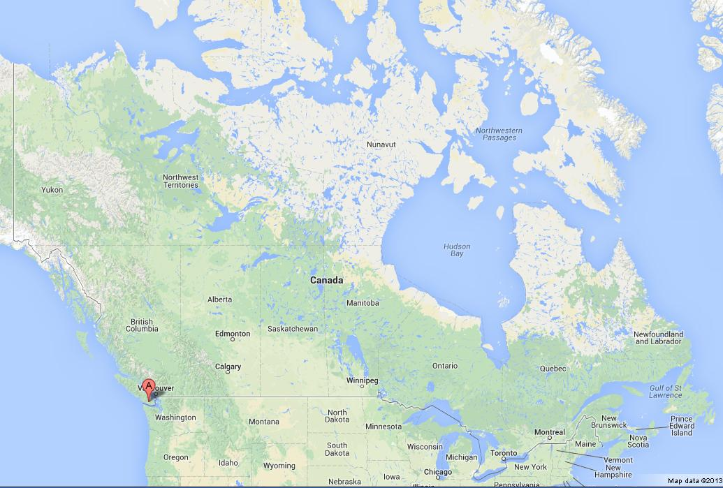 Vancouver Island On Map Of Canada