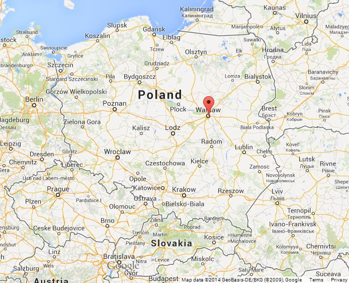 warsaw on map of poland world easy guides