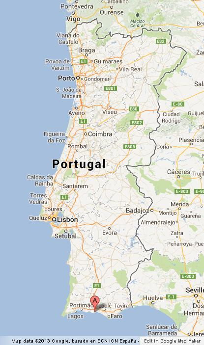 Albufeira On Map Of Portugal