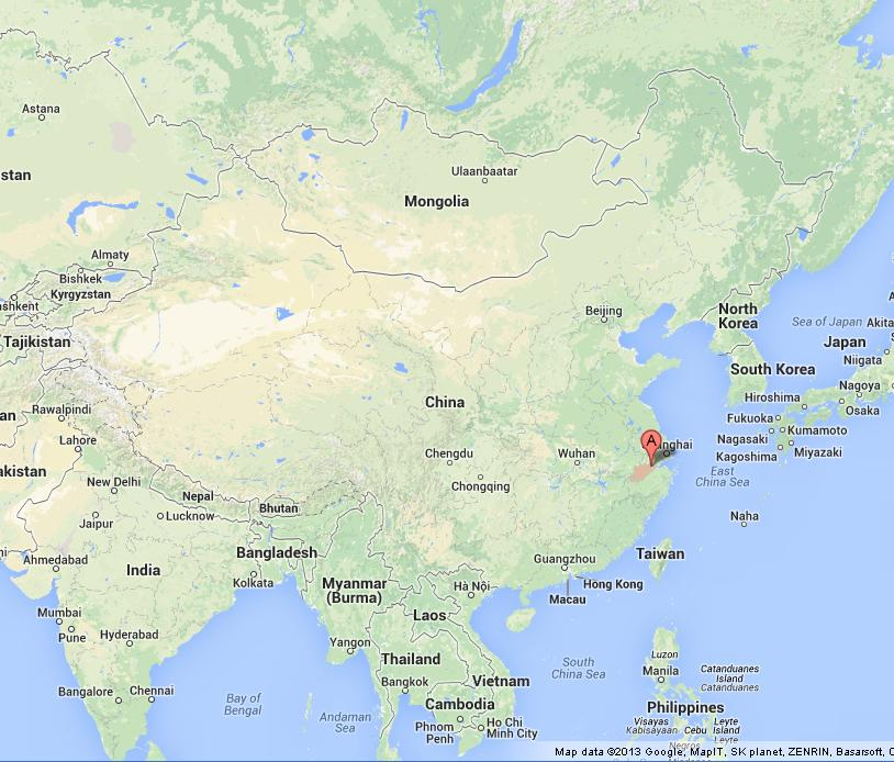 Hangzhou on Map of China World Easy Guides