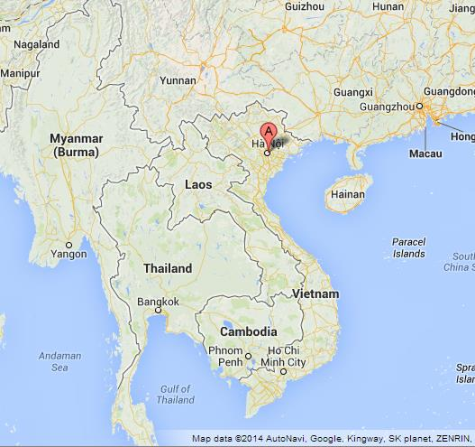 Hanoi On Map Of Vietnam