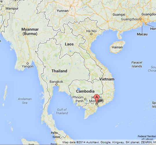 Ho Chi Minh City on Map of Vietnam World Easy Guides