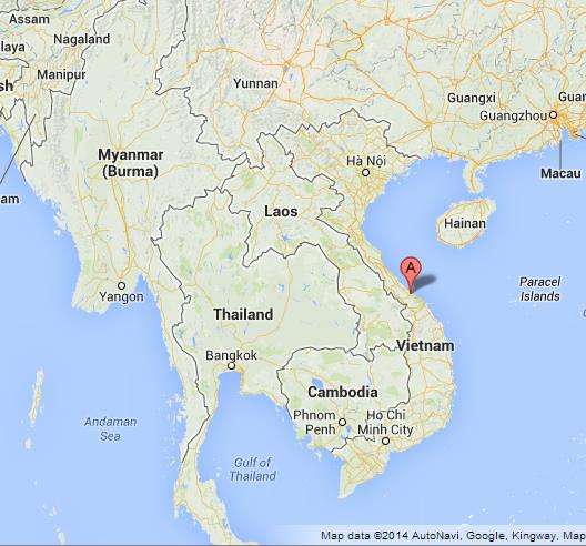 Hue on Map of Vietnam World Easy Guides