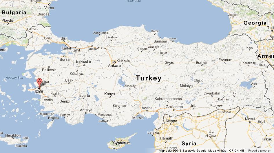 Izmir on Map of Turkey World Easy Guides