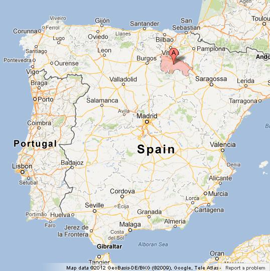... La Rioja on Map of Spain
