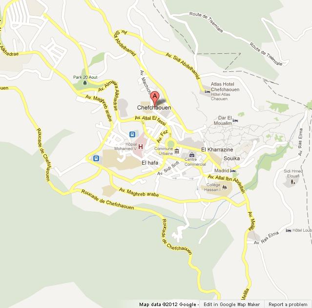 Map of Chefchaouen | World Easy Guides
