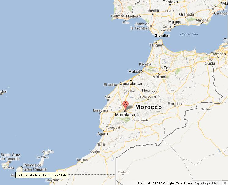 Marrakech on morocco map world easy guides location marrakech on morocco map sciox Gallery
