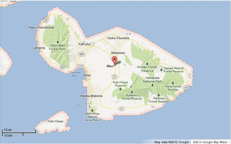 Hawaii Map Maui.Maui Hawaii Map