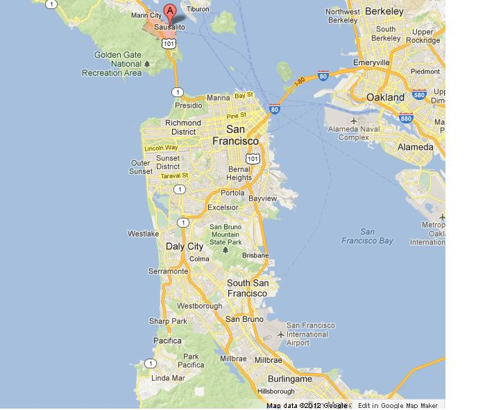 Sausalito on Map of San Francisco Bay on marina district map, emeryville marina map, sonoma county map, saddleback valley map, hacienda map, the presidio map, riverbank map, port costa map, point richmond map, monterey harbor map, serramonte map, downieville map, brooktrails map, san tomas map, jiangmen city map, san francisco map, golden gate national recreation area map, bay area map, tiburon map,
