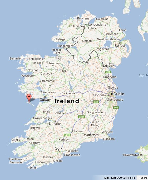 Map Of Ireland With Islands.Aran Islands On Map Of Ireland