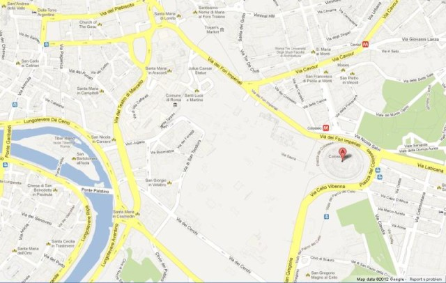 Maps of rome world easy guides location colosseum on map of rome gumiabroncs Gallery