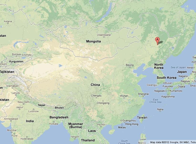 Harbin on Map of China World Easy Guides