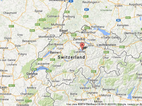 Lake of Lucerne on Map of Switzerland World Easy Guides