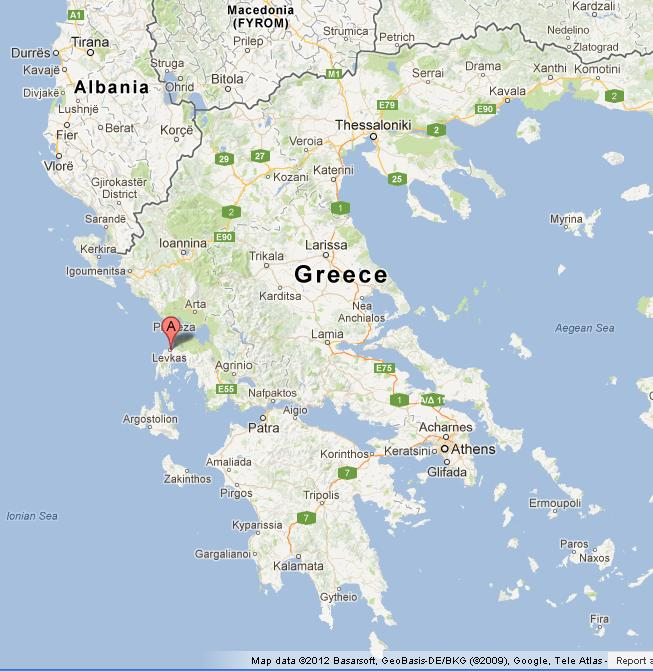 mapa lefkada Lefkada on Map of Greece mapa lefkada