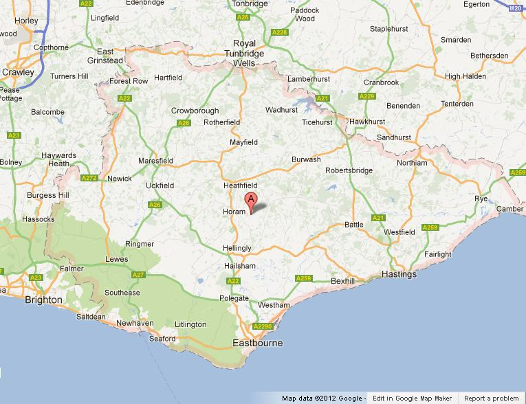Map Of East Sussex Uk