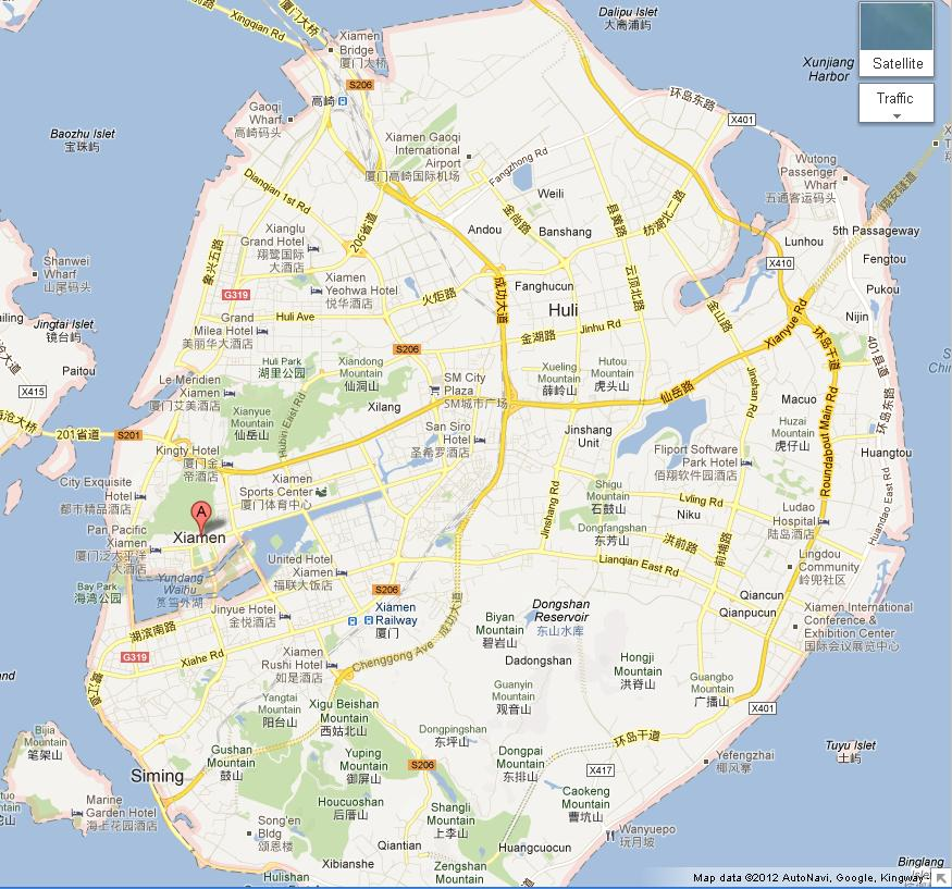 Map Of Gulangyu Island Xiamen