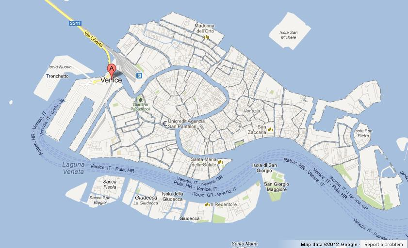 Map Of Venice Centre World Easy Guides - Venice map image