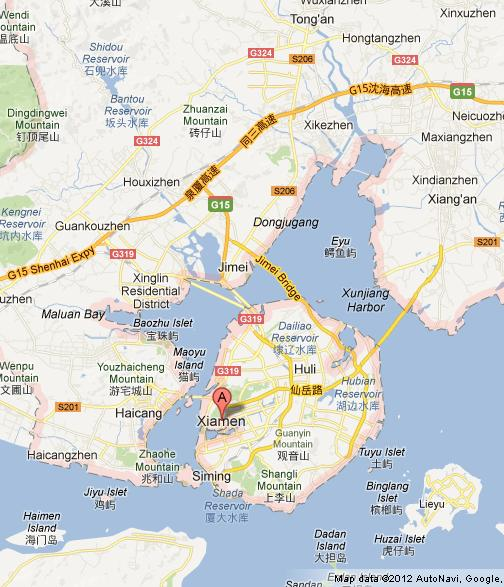 Map Of Xiamen