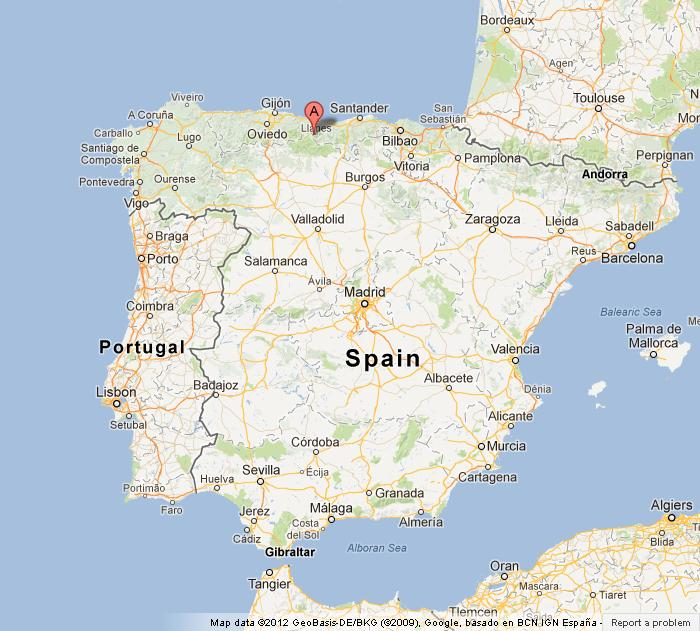 Picos de Europa on Map of Spain