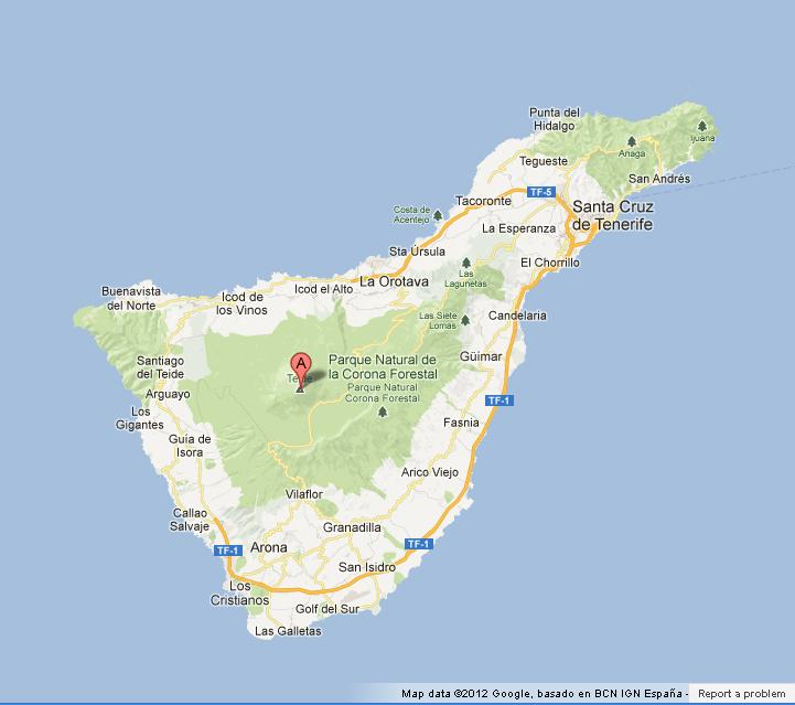 Teide On Tenerife Map World Easy Guides - Tenerife on a world map