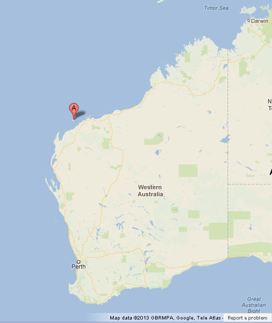 Barrow island on western australia map world easy guides location barrow island on western australia map gumiabroncs Gallery