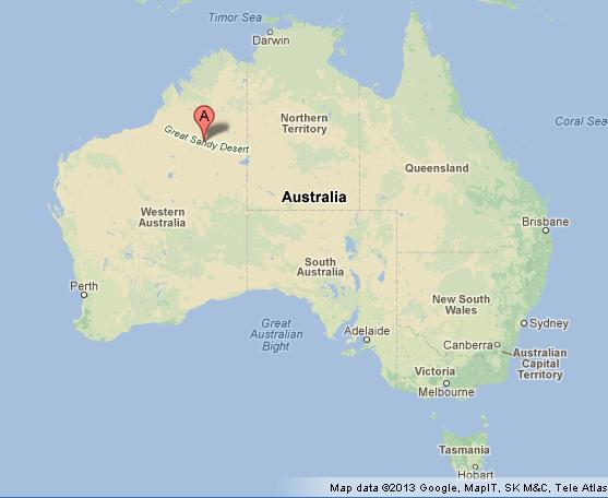 great sandy desert on map of australia