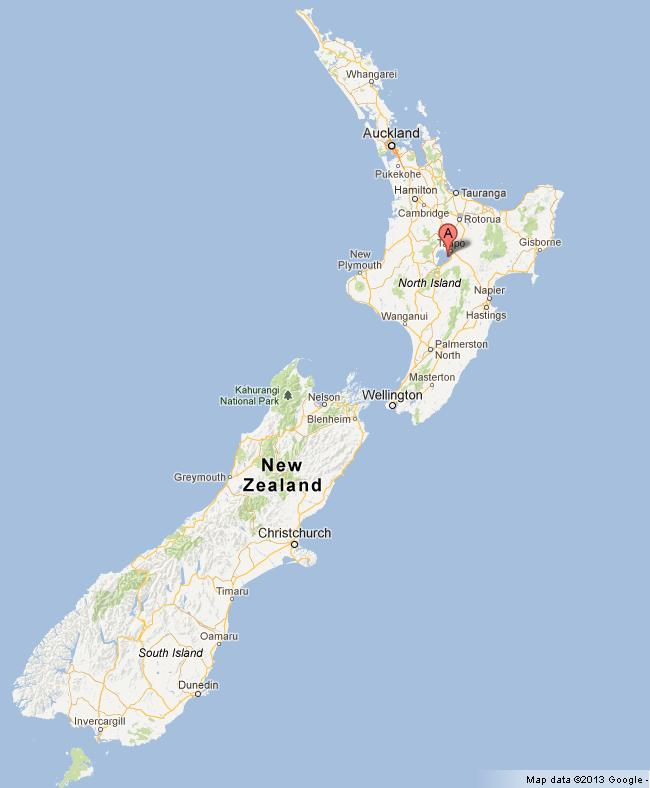 taupo new zealand map Lake Taupo On Map Of New Zealand