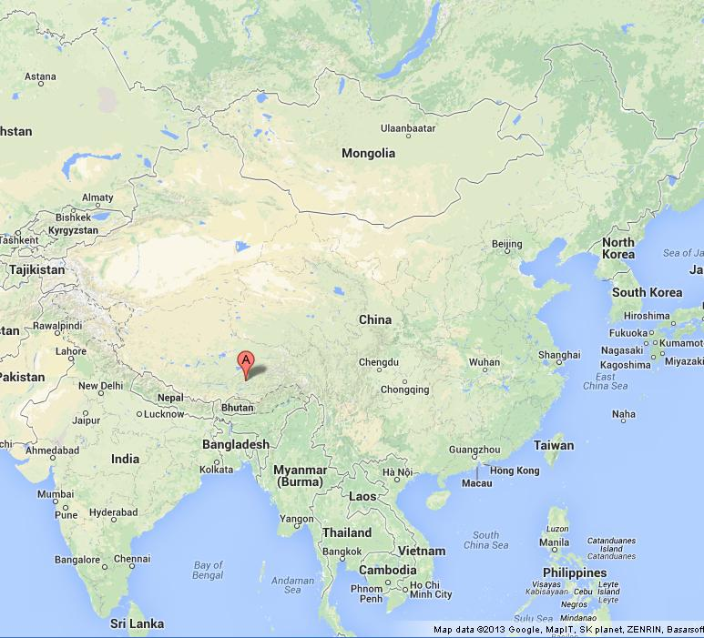 Lhasa On Map Of China World Easy Guides - Lhasa map