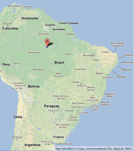 Manaus On Map Of Brazil