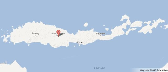 Map of Flores Island Indonesia