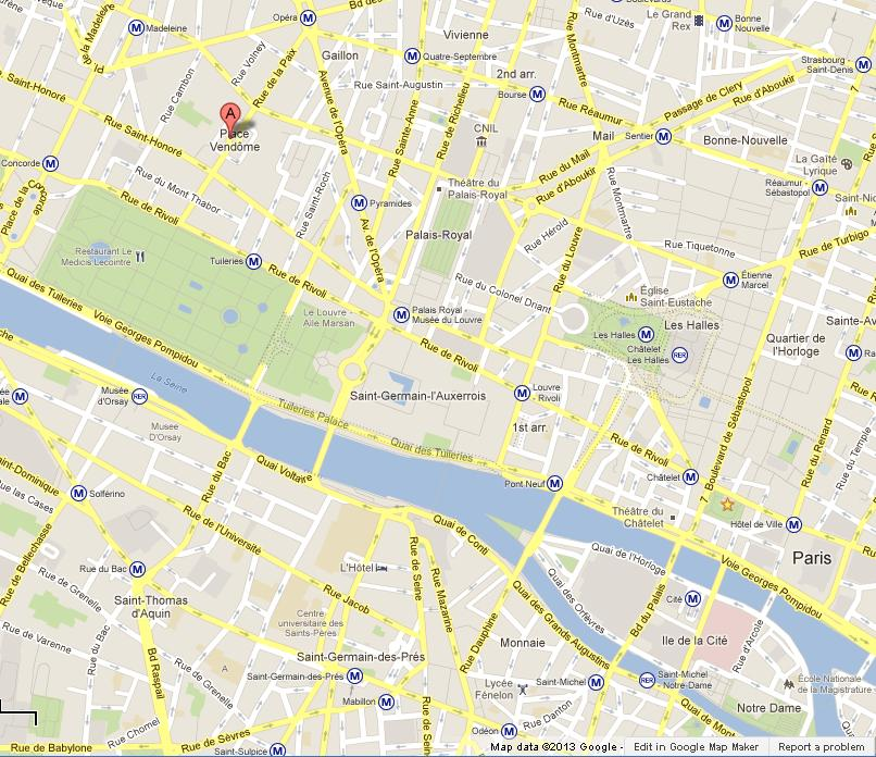 place vendome on map of paris world easy guides. Black Bedroom Furniture Sets. Home Design Ideas
