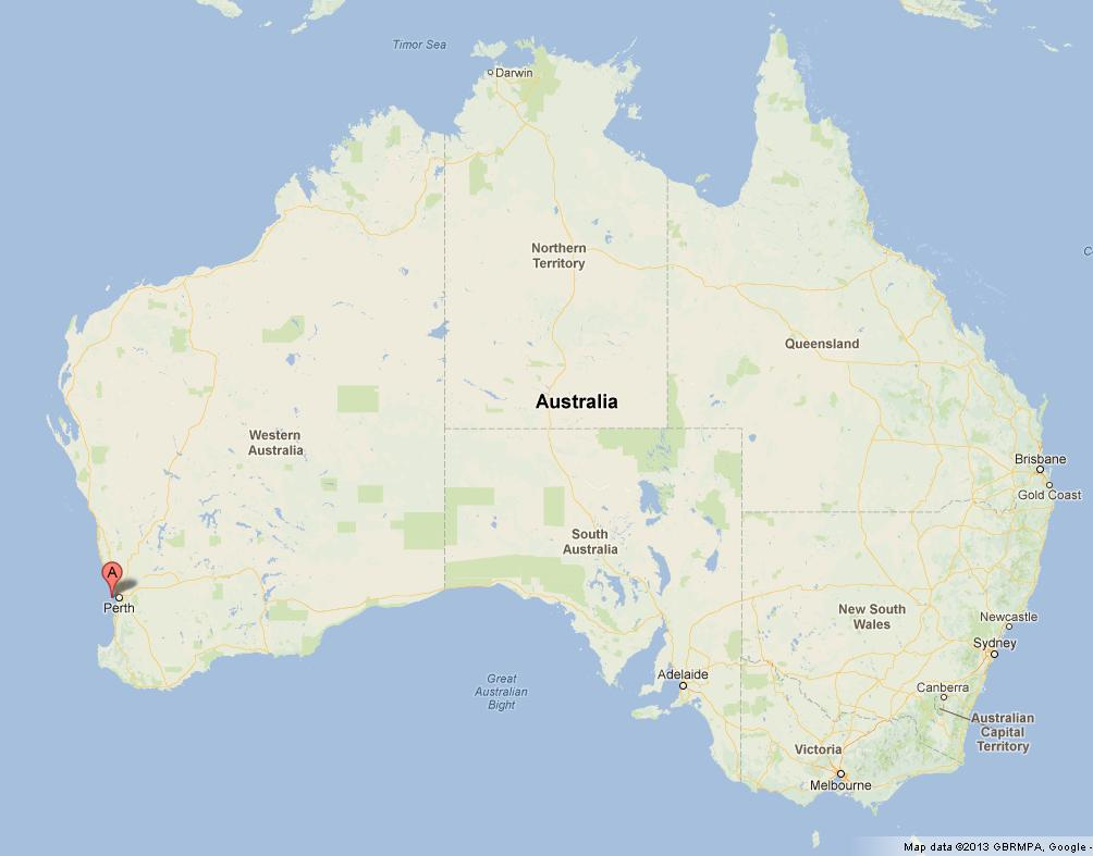 Rottnest Island on Australia Map