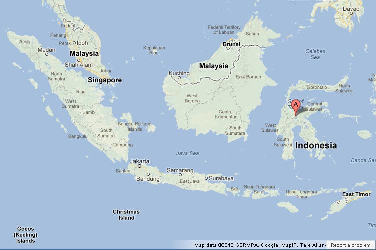 sulawesi on map of indonesia