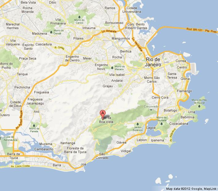 Tijuca National Park on Map of Rio World Easy Guides
