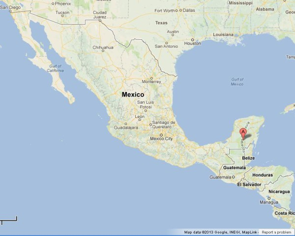 where is yucatan on map of mexico