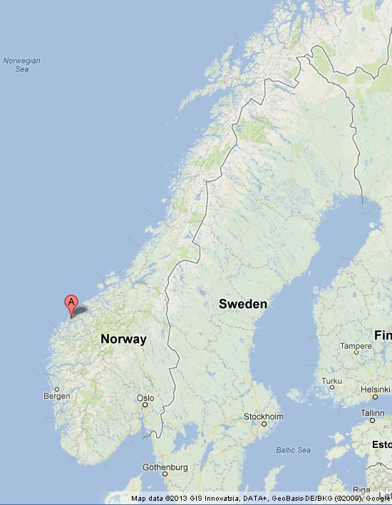 Where is Alesund on Map of Norway World Easy Guides