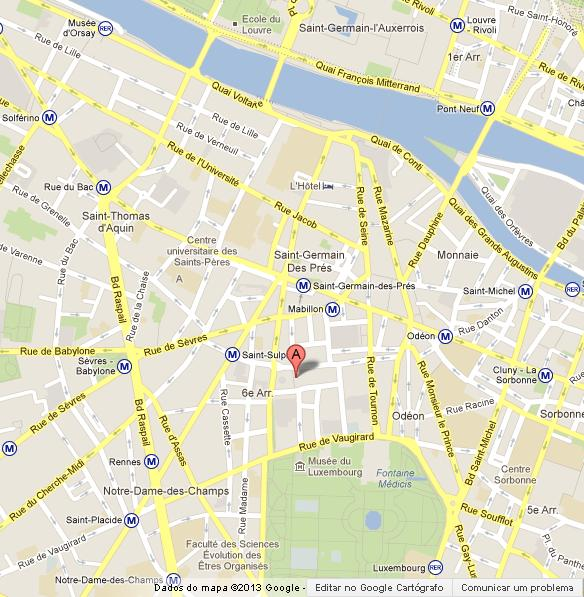 church st sulpice on map of paris