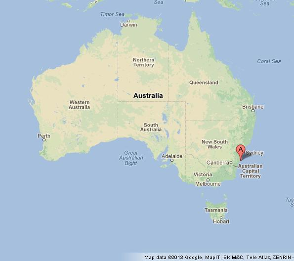 Jervis Bay on Australia Map World Easy Guides